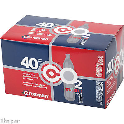 Crosman 12g Refill Paintball Camping Hiking CO2 Air Tank Cartridge 40pc