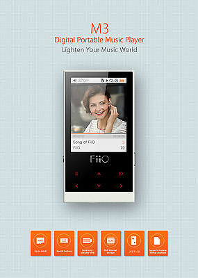 Fiio M3 Digital Portable Music Player - ONLY in WHITE COLOR