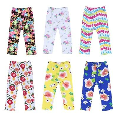 Infant Baby Girl Loose Trousers Stretchy Long Pants Leggings Floral Bottoms 0-2Y