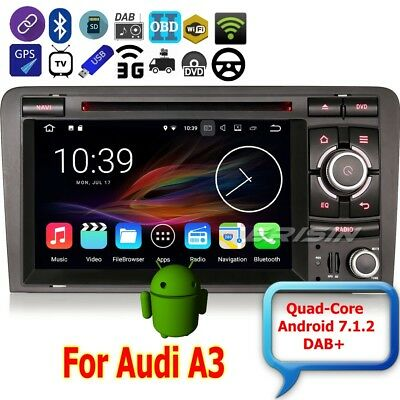 Autoradio AUDI A3 2003-2011 S3 RS3 Android 7.1 DAB+Car DVD Wifi 3G DTV BT 4727IT