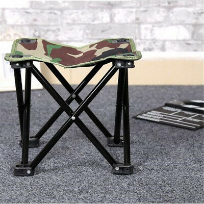 New Alloy Folding Stool Chair Outdoor Fishing Camping Hiking Backrest Seat