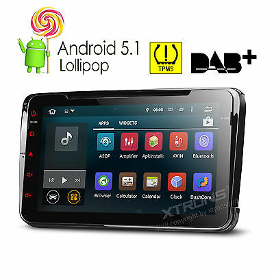 XTRONS Android 5.1 Car DVD Player Stereo Radio GPS VW T5 Transporter Passat/Seat