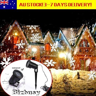 Outdoor LED Moving Snowflake Laser Projector Landscape Lamp Garden Xmas Light