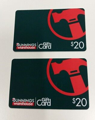 Bunnings gift cards 2 x $20 (total $40)