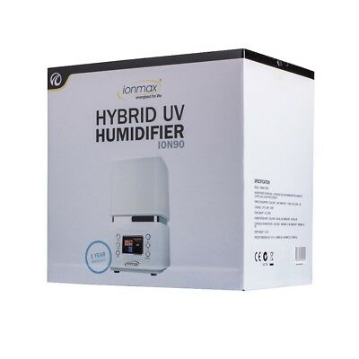 NEW Ionmax Ion90 Hybrid Humidifier Ultrasonic with UV - 1 Year Andatech Warranty