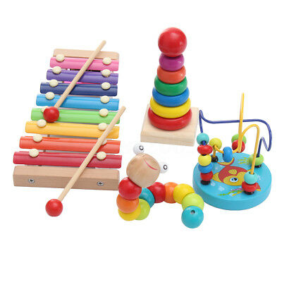 8 Notes Wooden Kids Baby Xylophone Glockenspiel Kit Set Musical Instrument Toy