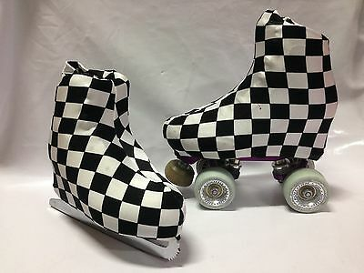 Chef Check Boot Covers for RollerSkates and Ice Skates  S,M,L