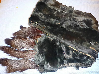 antique mink fur wrap / scarf