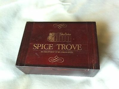 WOODEN SPICE BOX - Used - Empty - Dilini - Spice Trove - Was Sri Lankan Spices.