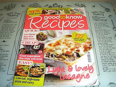 Good To Know Recipes Sept 2010