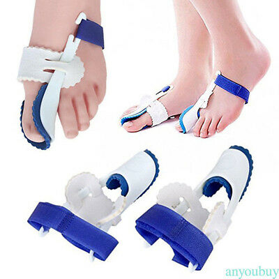 2 Toe Straightener & Bunion Hallux Valgus Corrector Night Splint Pain Relief
