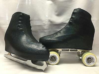 Black Holographic Fog Boot Covers for RollerSkates and Ice Skates  S,M,L