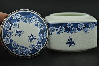 China Decorated Porcelain Draw Delicate Flower & Butterfly Usable Tea Leaf Pot