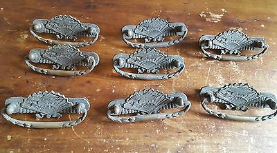 Antique Heavy Solid Brass Drawer Pulls, Arts and Crafts, Mission Style Duck