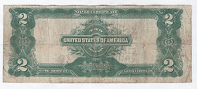 Circulated 1899 $2 Silver Certificate--Fr. 258, Speelman/White, Ships Insured