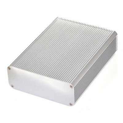 "Silver Electronic Projects Aluminum Box Enclosure Case Big DIY 6.28""*4.79""*1.77"""