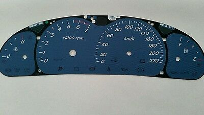 VT VX Holden Commodore Monaro Delft Blue  Dial Fascia also suits VU Ute & HSV