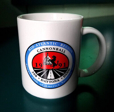 Ferrari Club of America 1991 Annual Meet Cannonball 308 Daytona Dino Coffee Cup