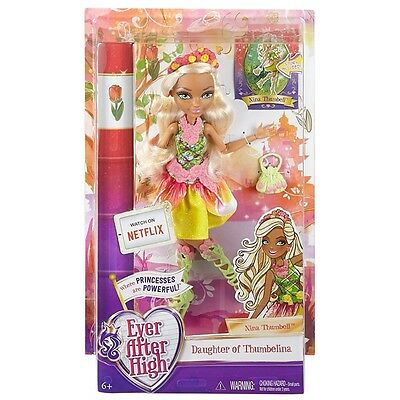 Ever After High Rebel Nina Thumbell Doll Daughter Of Thumbelina Brand New Dhf44