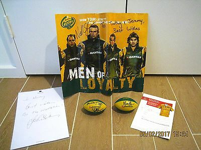 Australia Rugby Union Wallabies Collector Memorabilia Signed Autographed