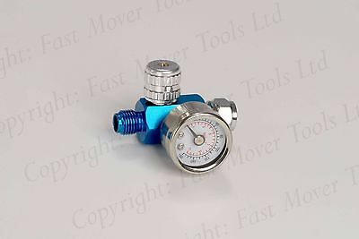 Extra Small Regulators Gauge Paint Spray Gun Light Adjustable Dial Air Tool x 2