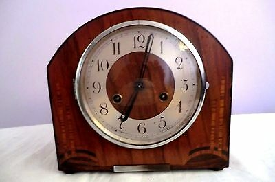 Vintage Smiths Perivale Anvil Mantle Clock in working order