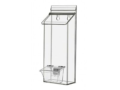 """Outdoor 4"""" x 9"""" Brochure Holder with attached Card Holder"""