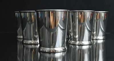 Six Sterling Silver Mint Julep Cups by Web Silver Co.