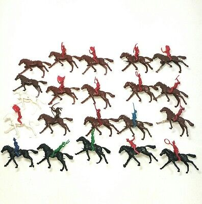 Fort Apache Cheyenne style figures Cowboys Indians Horse toy figurine Vintage