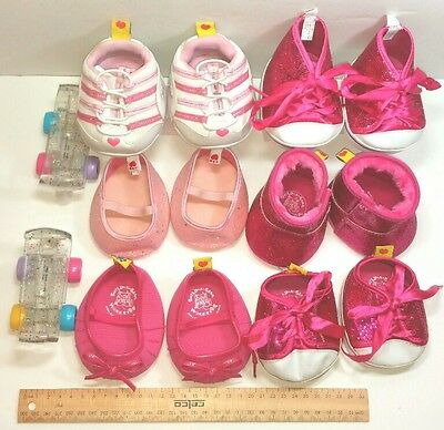 Build a Bear Shoes toy doll accessories Bulk Bundle Pink Skechers Rollerskates