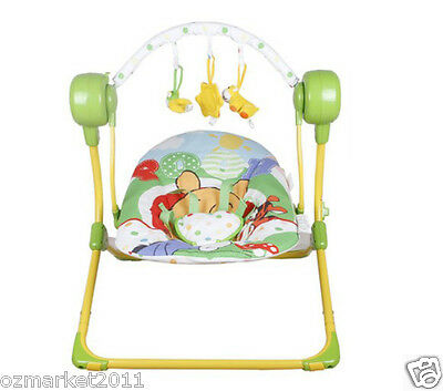 Fashion Green Security Baby Swing Chair/Electric Rocking Chair+Charger JM