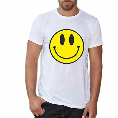 Acid Smiley Face Yellow T shirt House Rave Music Retro Summer Tee Festival Tees