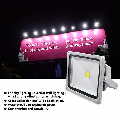 10W 20W 30W 50W PIR Motion Sensor LED Security Flood Light Floodlight Outdoor UK