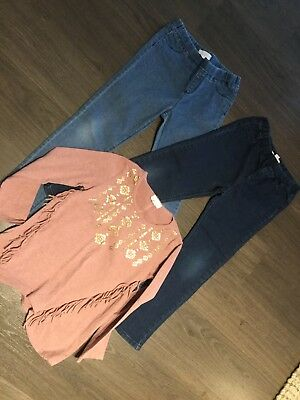 pumpkin patch Girls Jeggings And Top Size 7 And 8