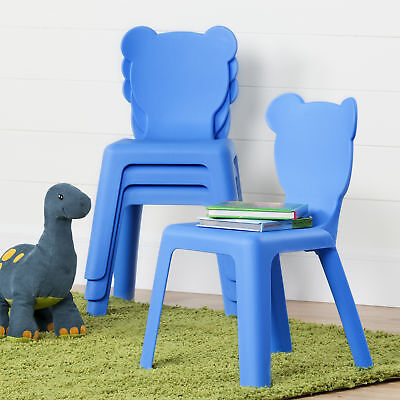 South Shore Furniture 1176 Crea  Kids Plastic Stacking Chairs, 4 Pack