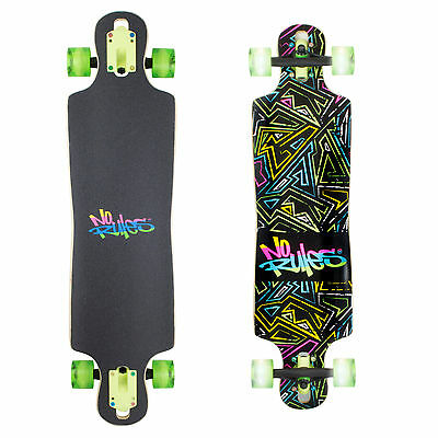 Longboard compact ABEC 7 No Rules NEON Leuchtrollen