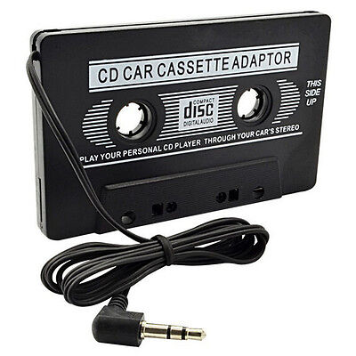 Audio Cassette Tape Adapter Aux Cable Cord 3.5mm Jack fr to MP3 iPod Player  KJ@