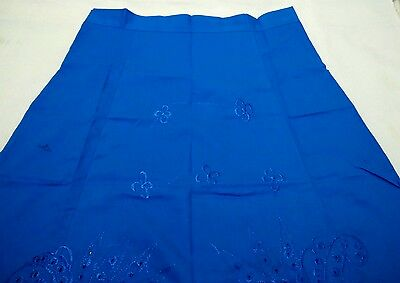 UK*Indian Cotton readymade sky Blue embroidered saree Petticoat/underskirt