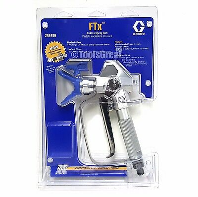Graco 288486 Airless FTx Spray Gun with LTX515 Tip & 246215 Rac X Tip Guard