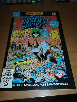 Last Days JSA special signed Mike Gustovich; Justice Society Dr Fate Roy Thomas