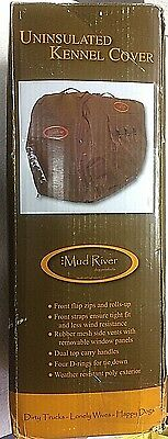 GENUINE Mud River Uninsulated Kennel Cover, Brown 40L X 28.5W X 30H - 18495