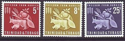 Trinidad & Tobago 1963 SC 110-112 MH Set Freedom from Hunger