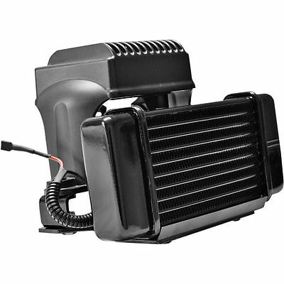 Jagg Low Mount  Fan Assist Oil Cooler Kit 10 Row For Harley Touring 1984-2008