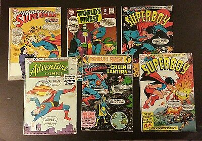 DC SILVER AGE comic lot of 6. Feat. Superman #172, Adventure #264 and 4 others.