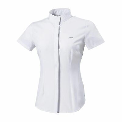 Equi-Theme Kids Lorina Competition Shirt Formal New Short Sleeves Show Button Up