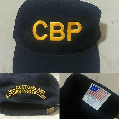 Official U.S. CUSTOMS & BORDER PATROL PROTECTION AGENT CBP CAP HAT USA MADE