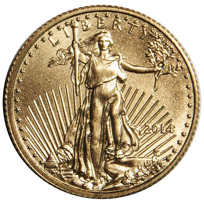 2014 $5 American Gold Eagle 1/10 oz. (Brilliant Uncirculated)