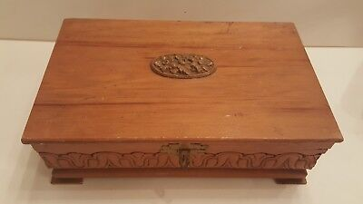 Vintage Footed Wooden Cigar Box Factory No.195 1st District PA