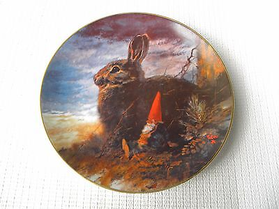 """Gnomes 4 Seasons ~ Fall """"the Lookouts"""" By Poortvliet Collector Plate ~ Numbered"""