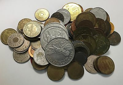 (#125)  Lot of 90 Various Tokens  ~  Advertising / Tax / States / Collectible